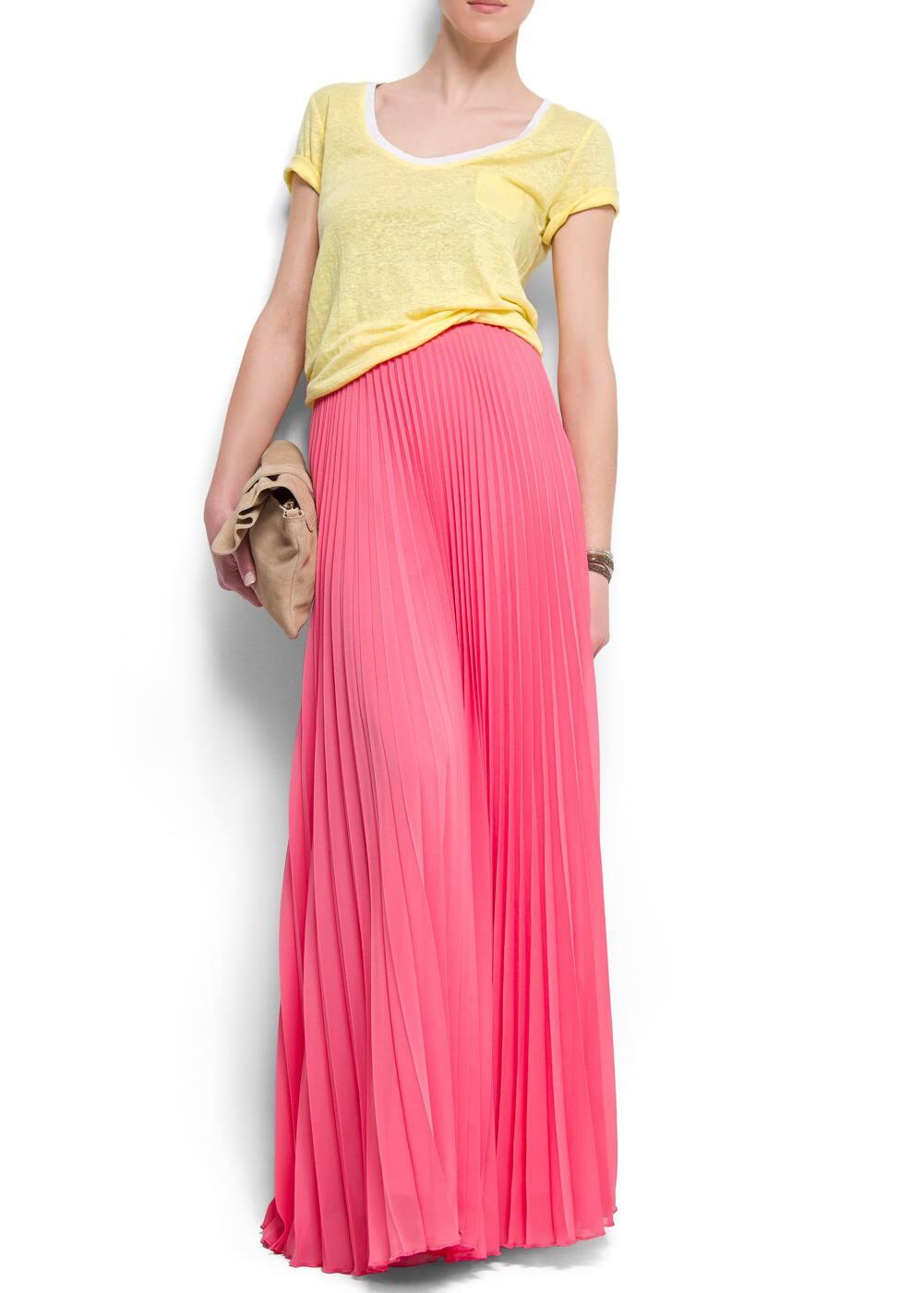 Pleated maxi-skirt   MANGO