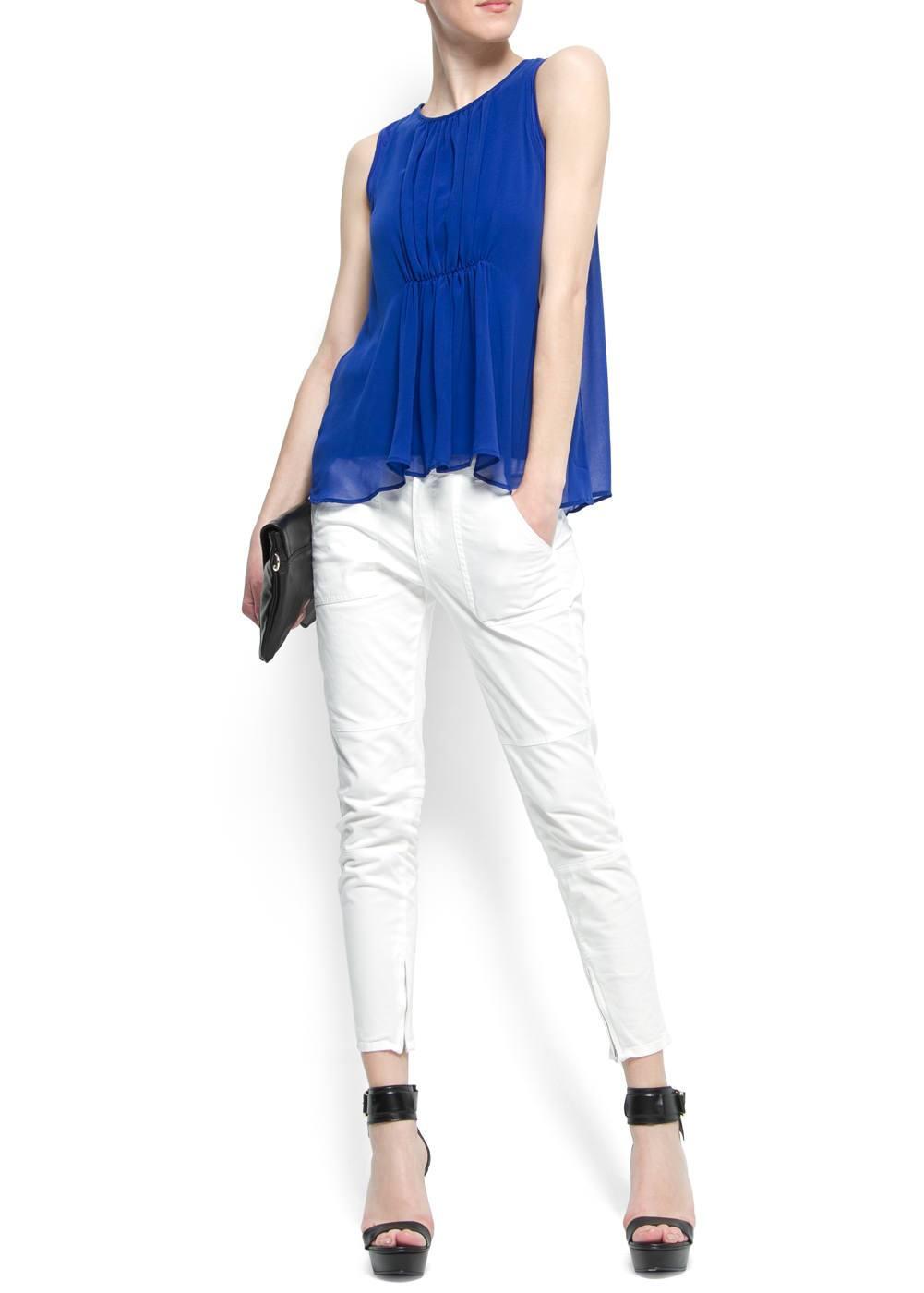 Crop pocket trousers | MANGO