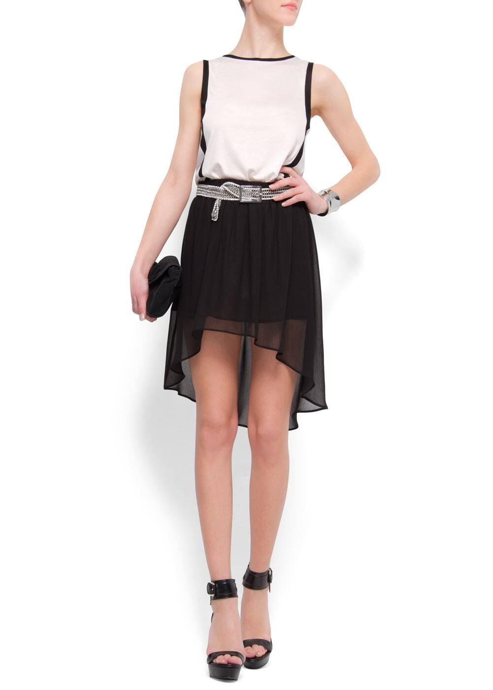 Asymmetric skirt | MANGO
