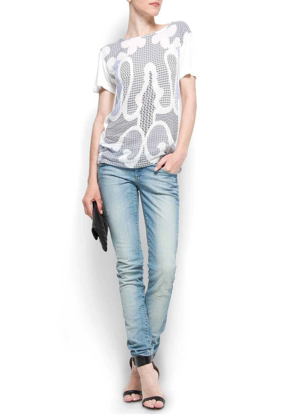 Multi-print t-shirt | MANGO