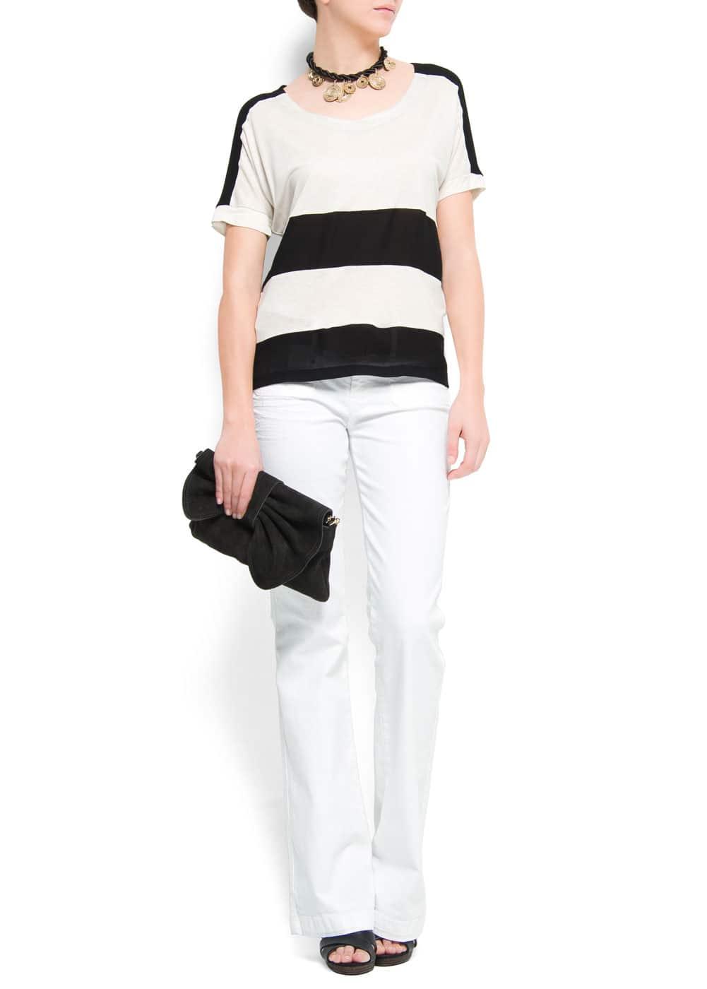 Striped t-shirt | MANGO