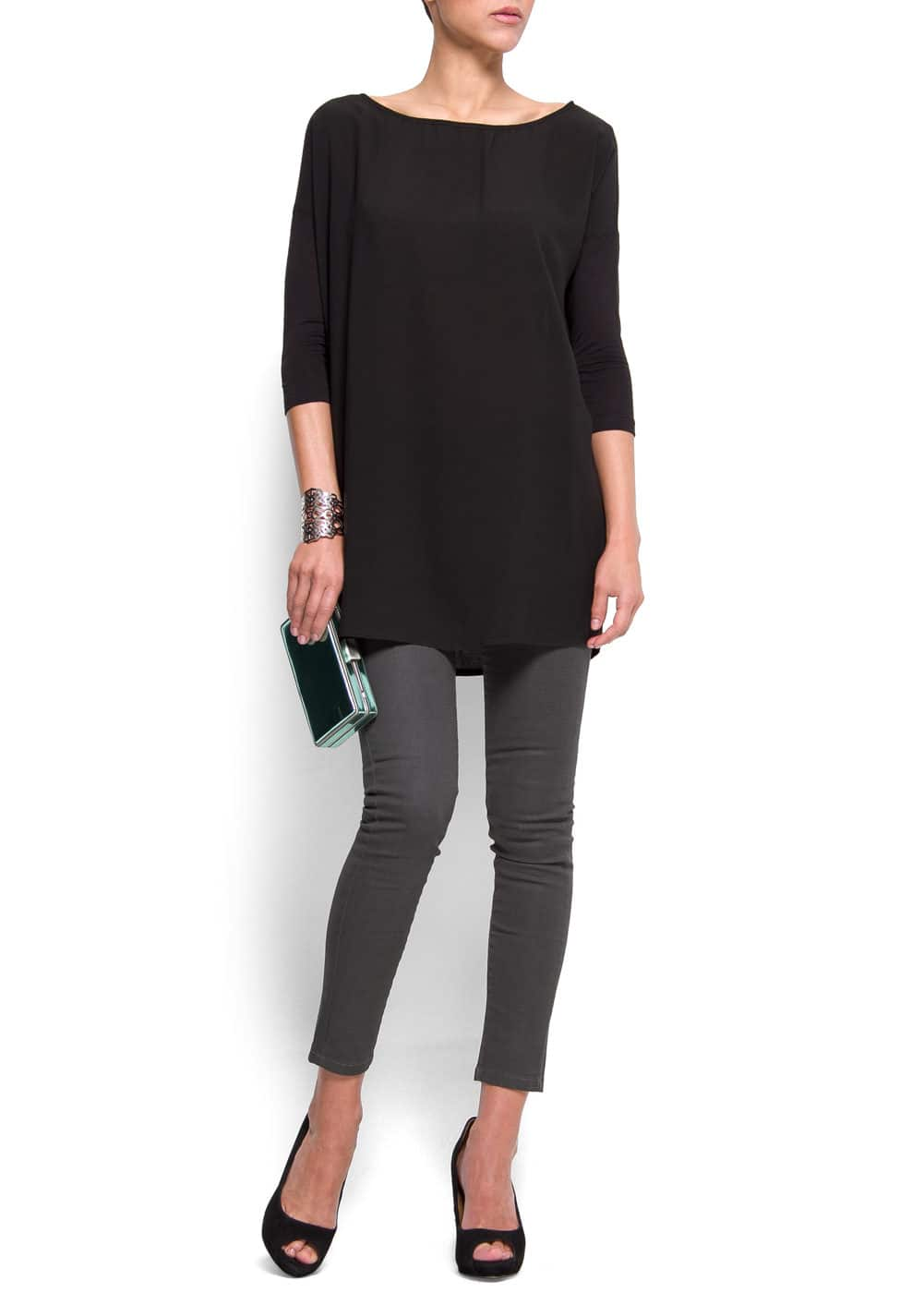 Relaxed-fit round neck blouson   MANGO