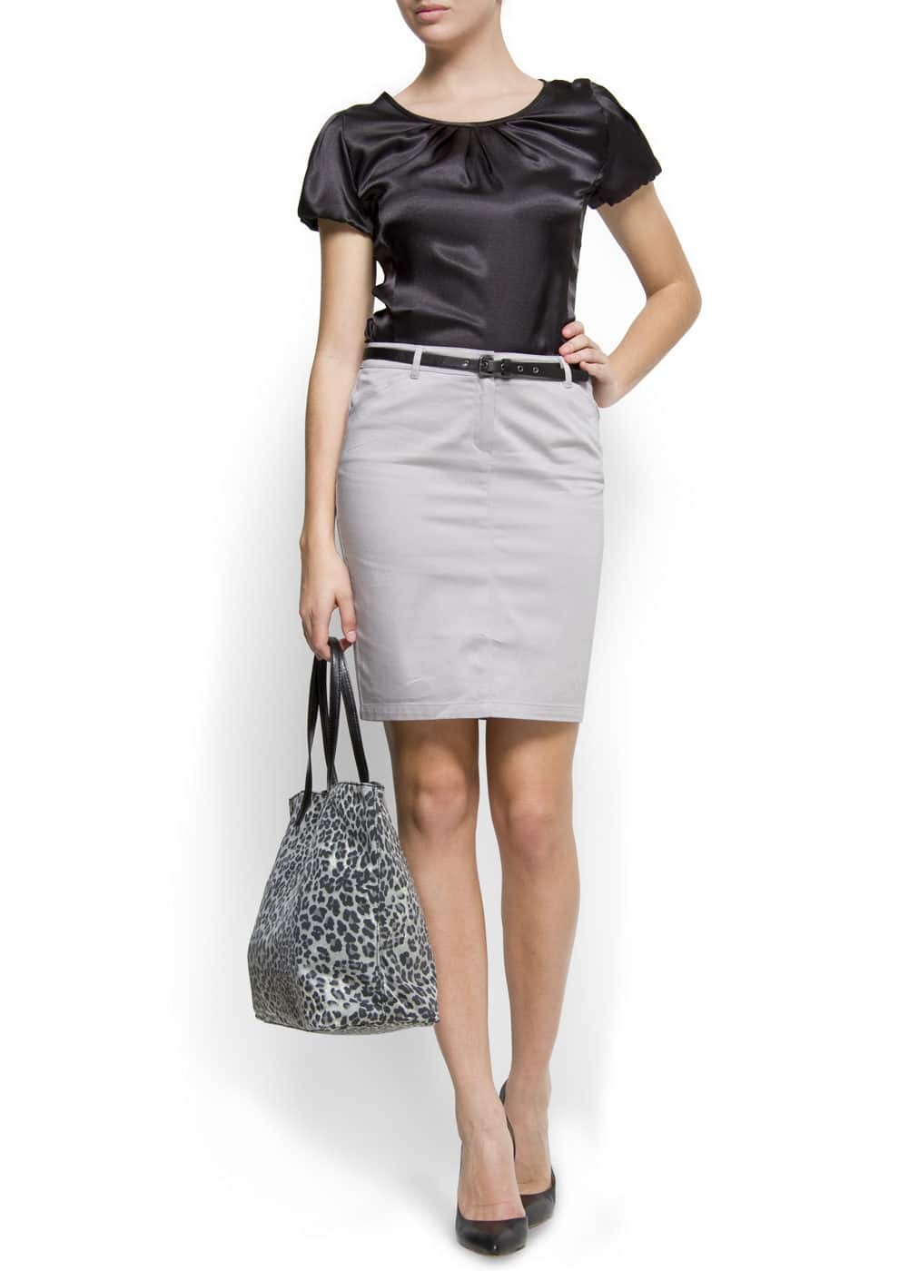 Straight-cut pocket skirt | MANGO