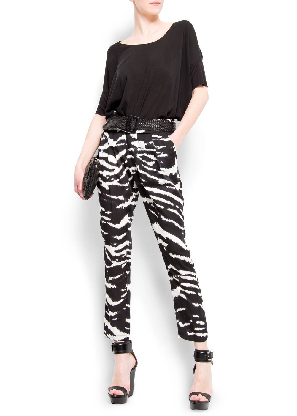 Zebra print trousers | MANGO