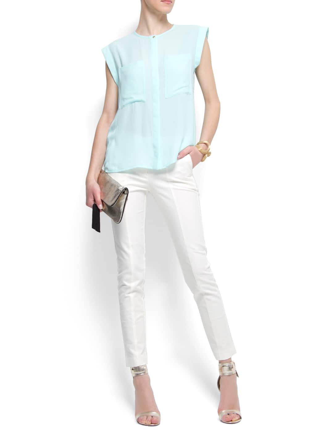 Oversize pockets blouse | MANGO
