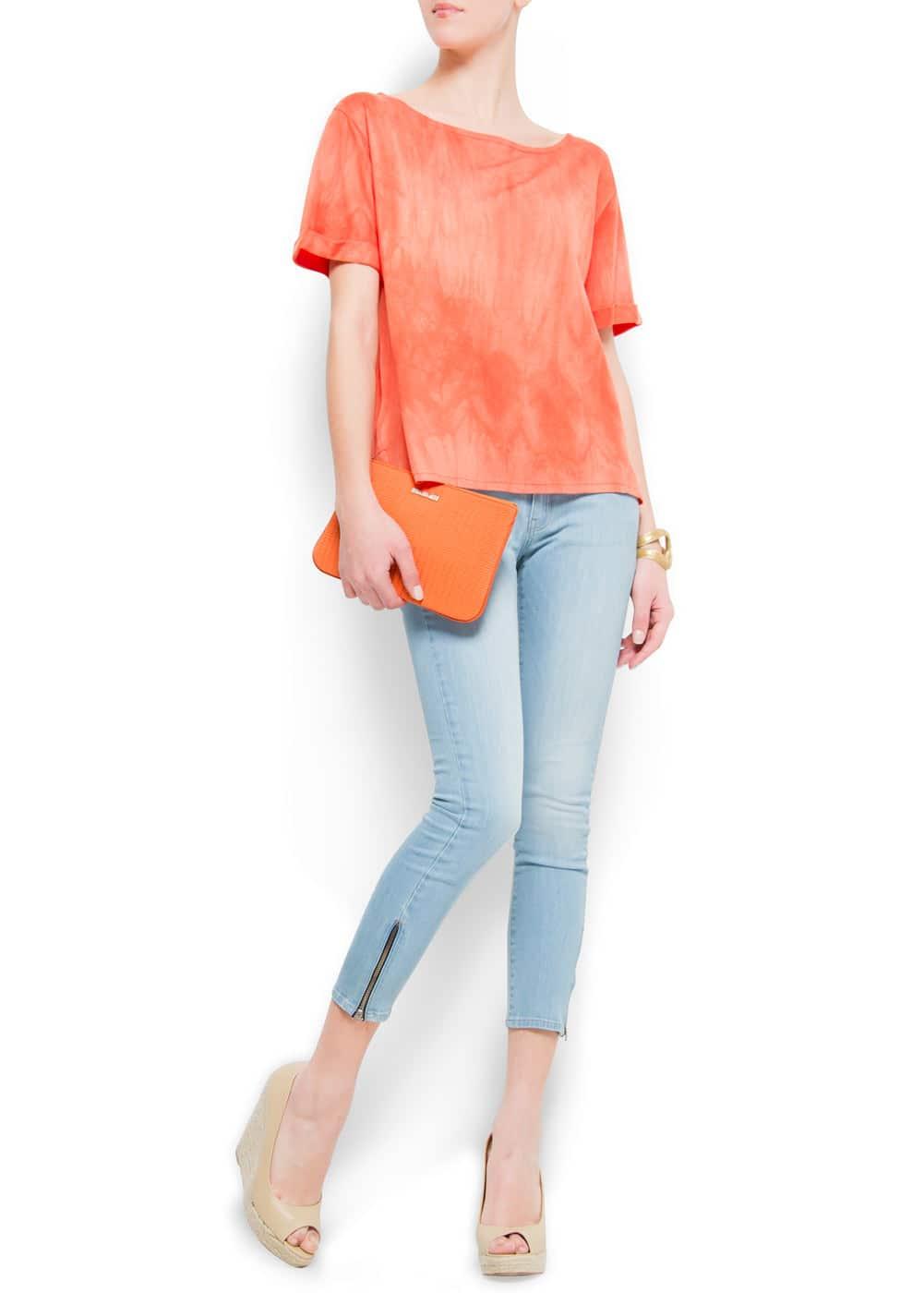 Super slim cropped jeans | MANGO