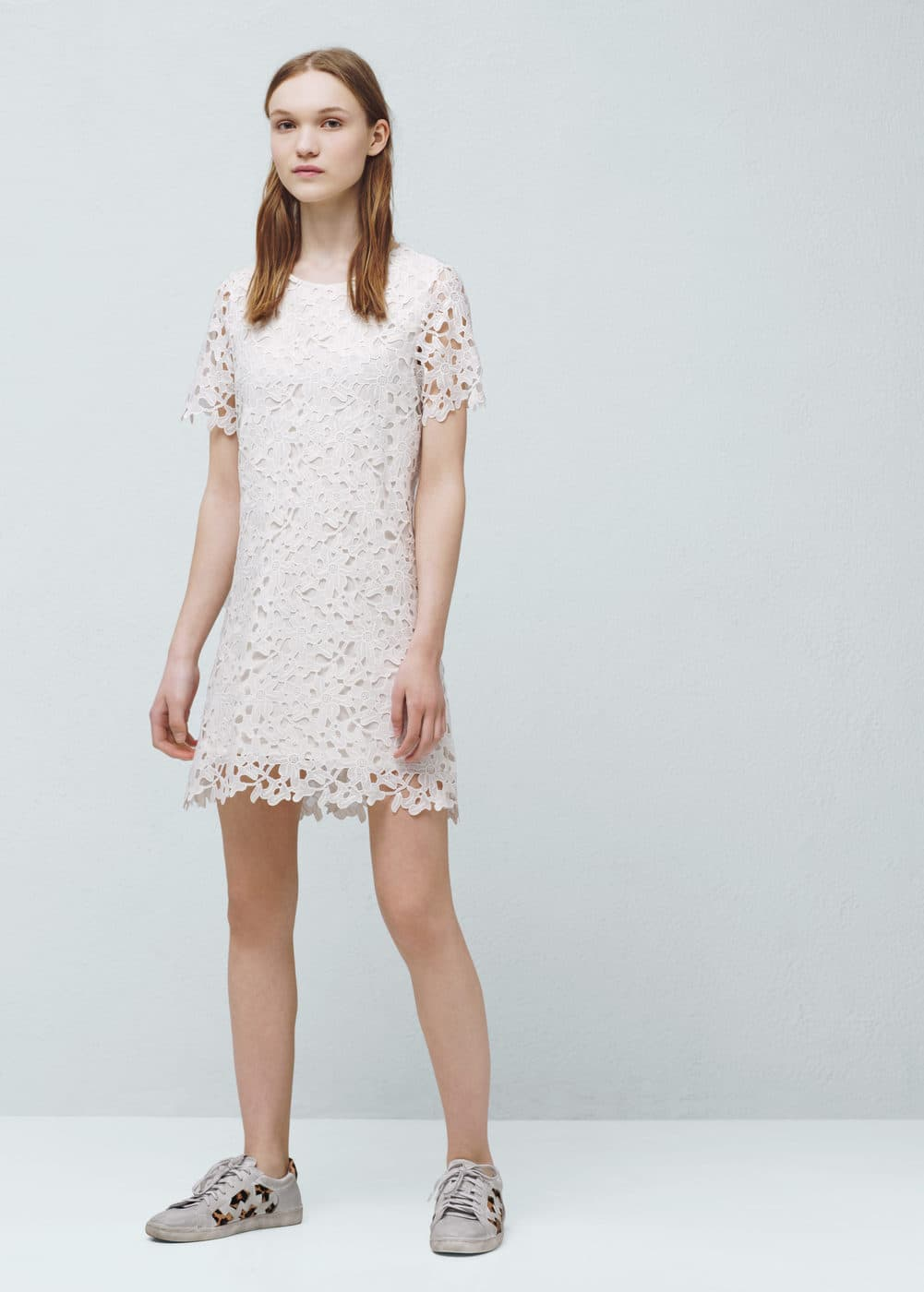 Ażurowa sukienka | MANGO