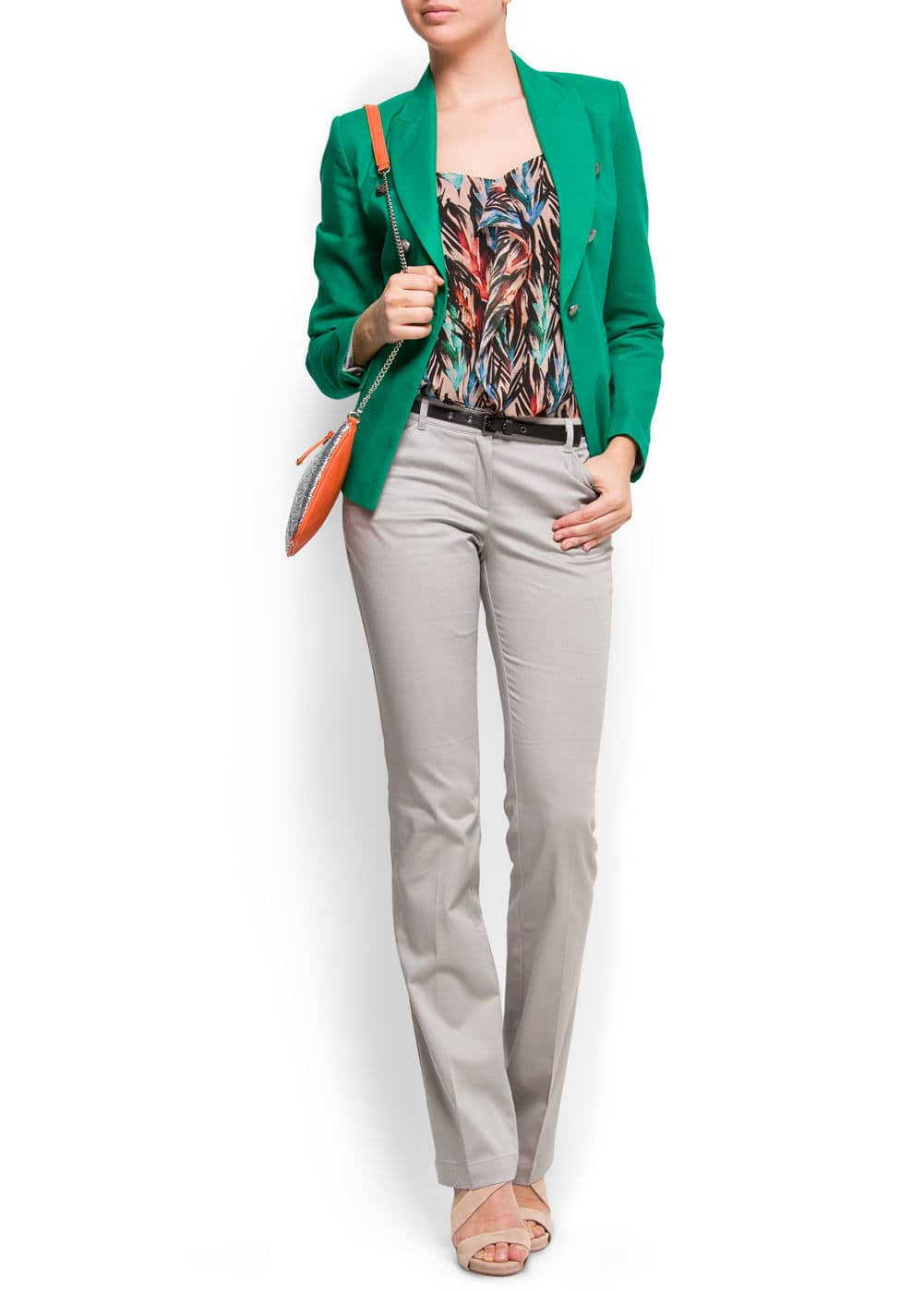 Military style blazer | MANGO