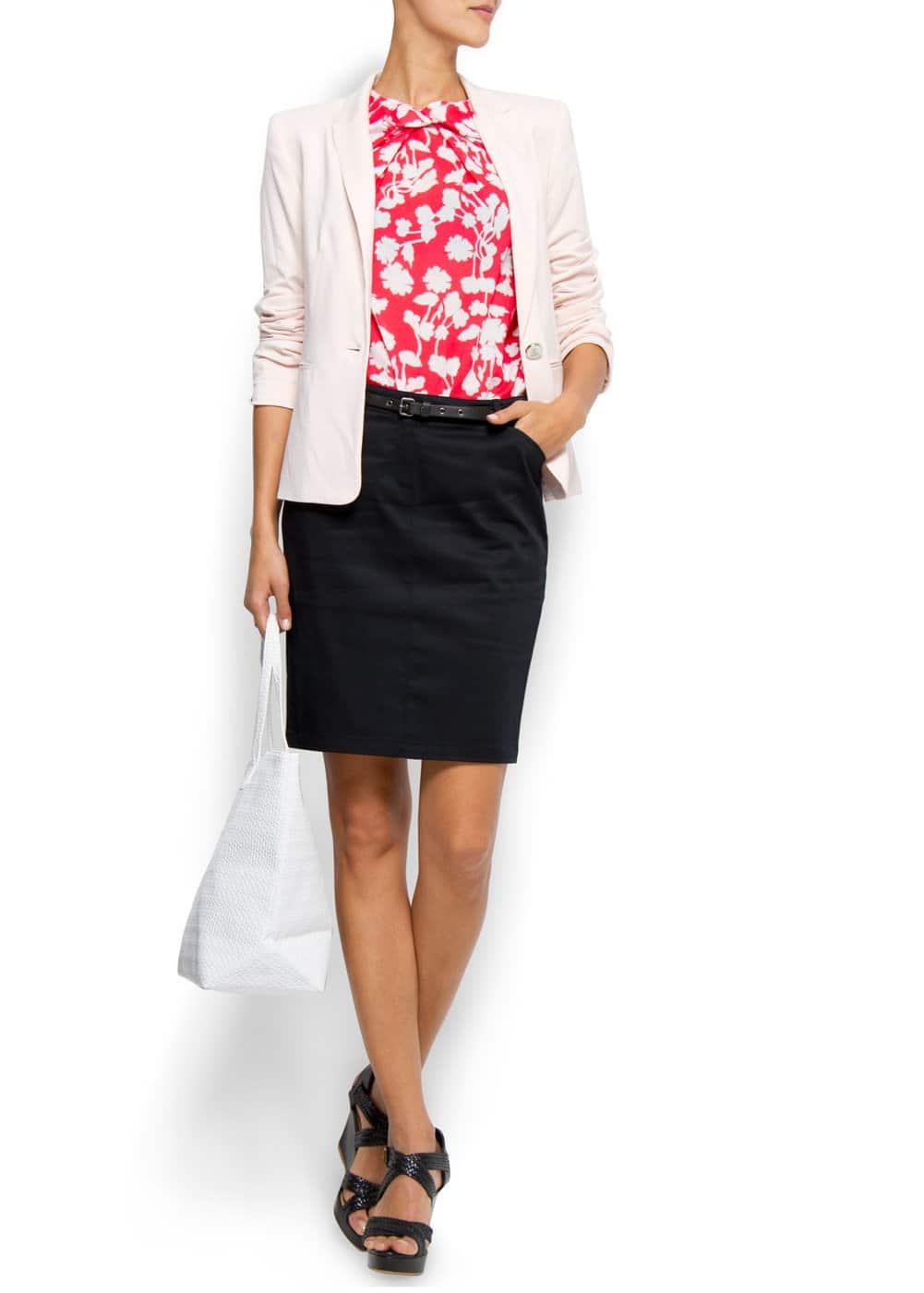 Flower blouse   MANGO