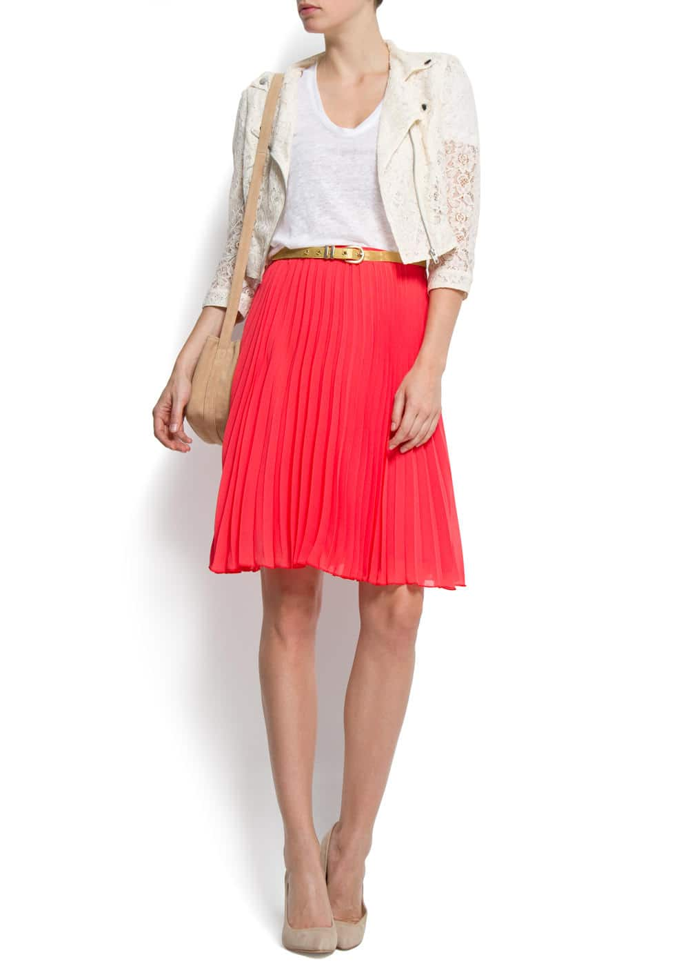 Pleated flared skirt | MANGO