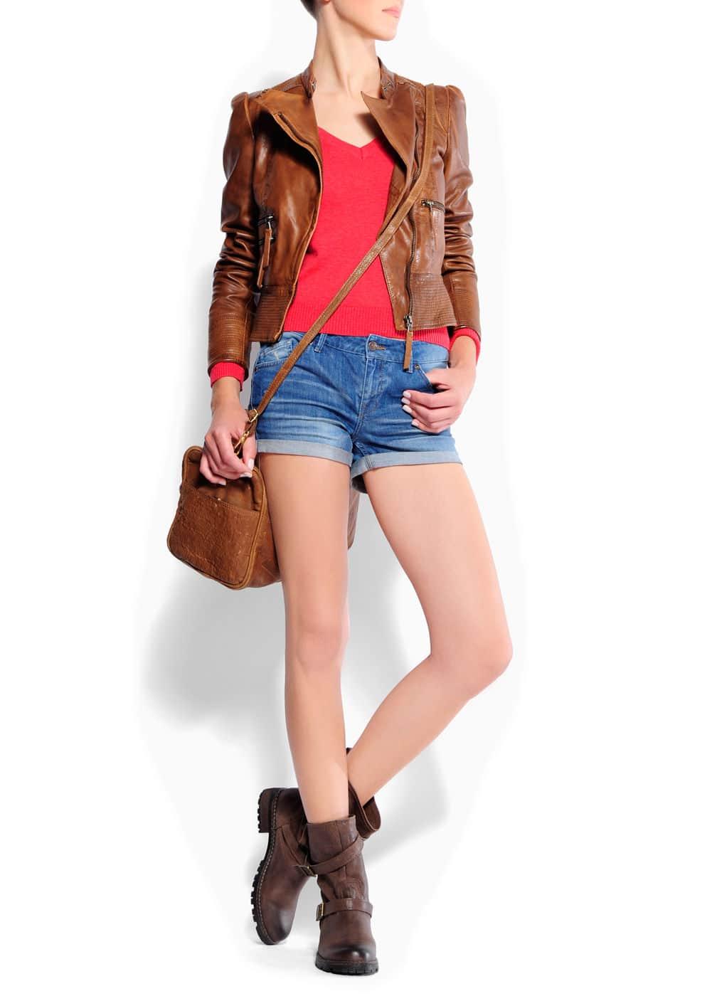 Biker leather jacket | MANGO