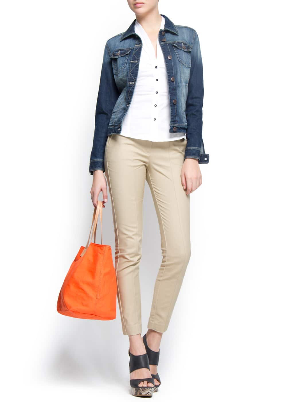 Canvas shopping bag | MANGO
