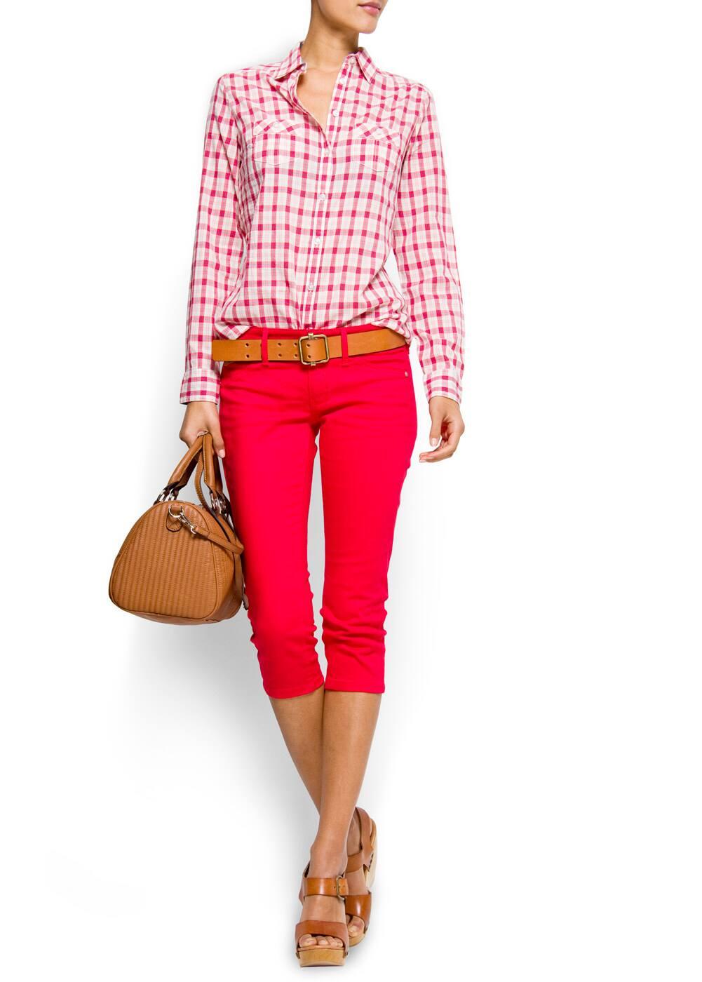 Couloured capri jeans | MANGO