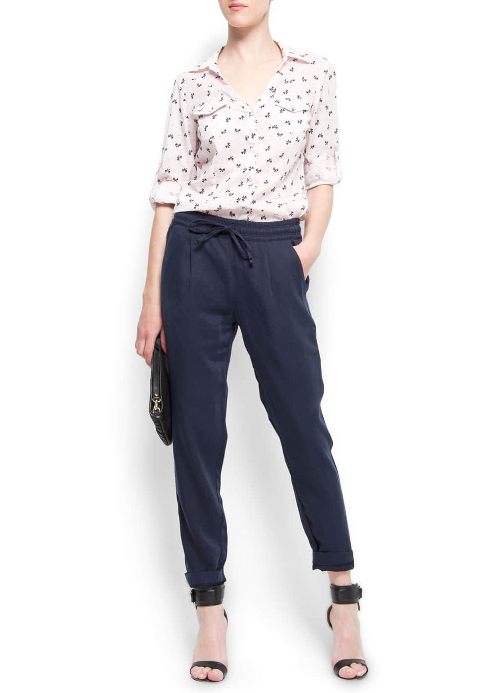 Loose-fit trousers | MANGO