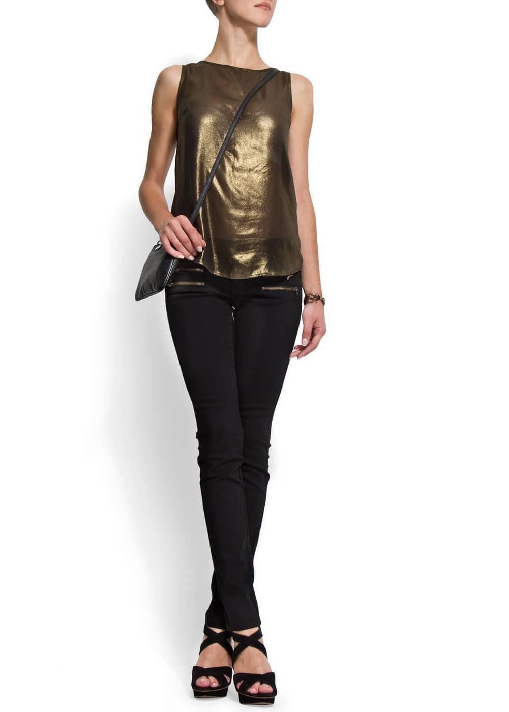 Zip pockets jeans | MANGO