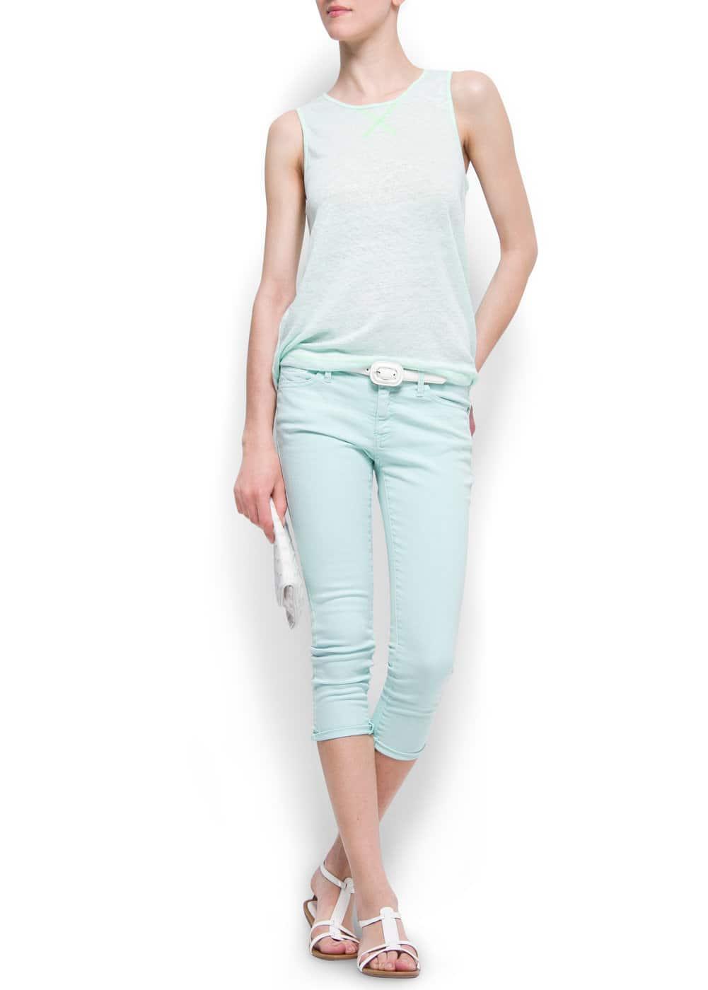Cropped jeans | MANGO