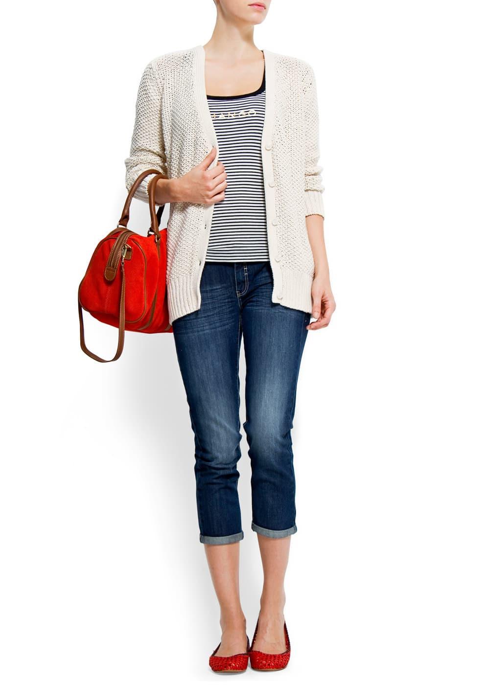Capri pocket jeans | MANGO