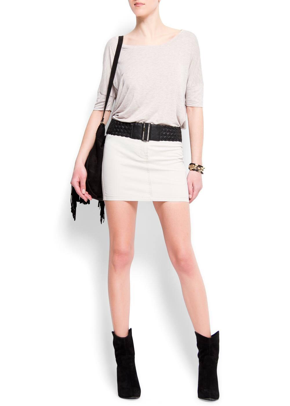 Colour miniskirt | MANGO