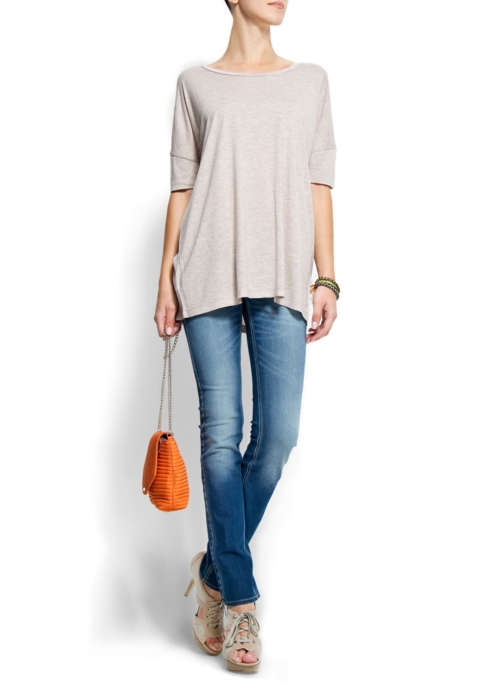 Relaxed-fit basic t-shirt | MANGO