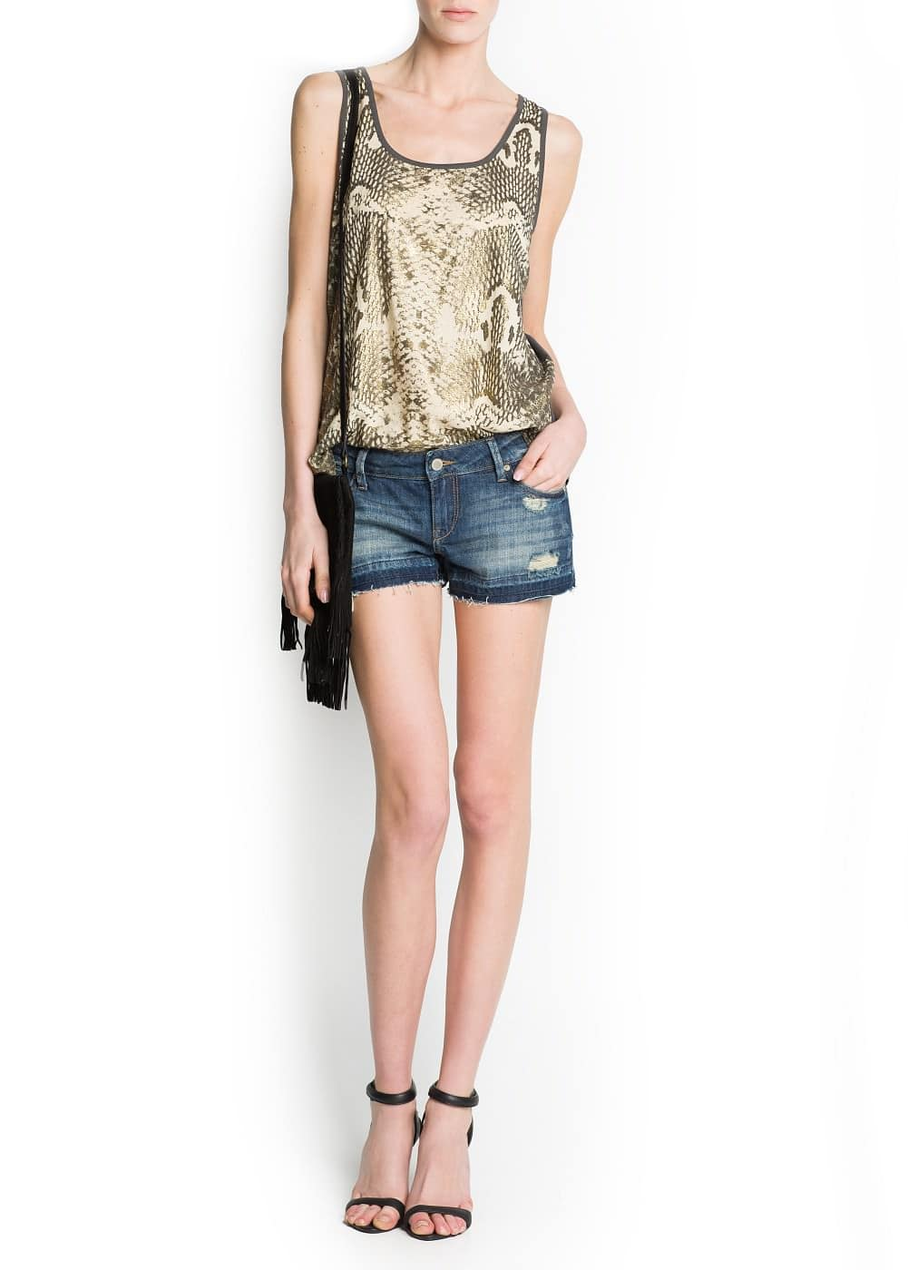 Animal print t-shirt | MANGO
