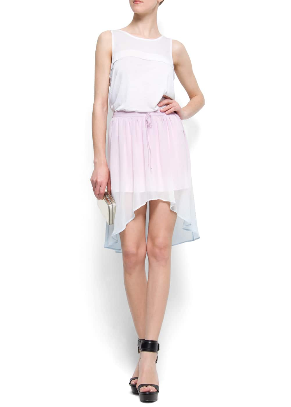 Degraded color tail hem skirt | MANGO