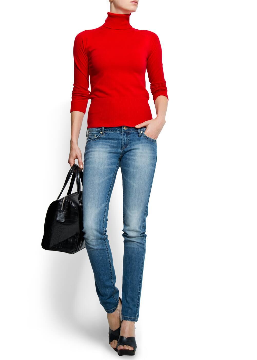Slim-leg five pockets jeans   MANGO