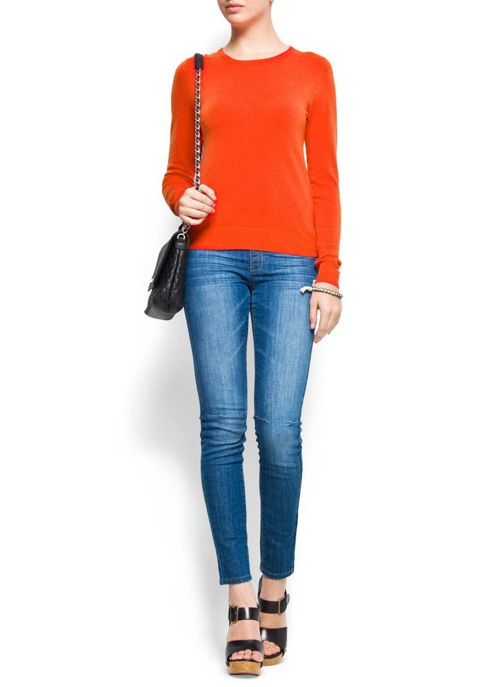 Slim-fit round neck jumper | MANGO