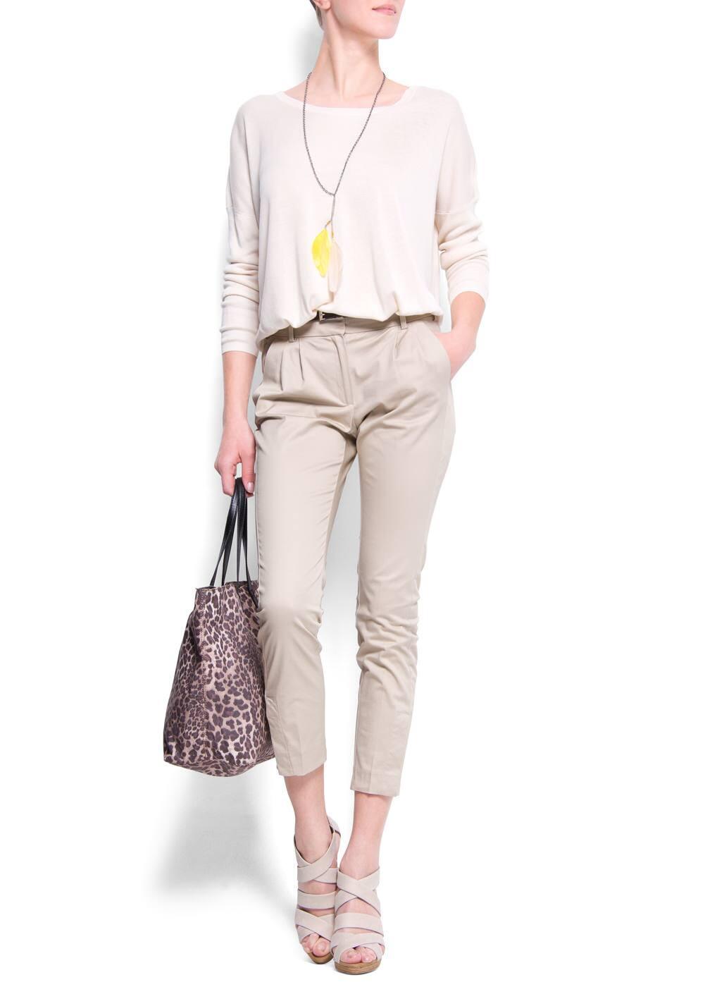 Animal print shopper handbag   MANGO