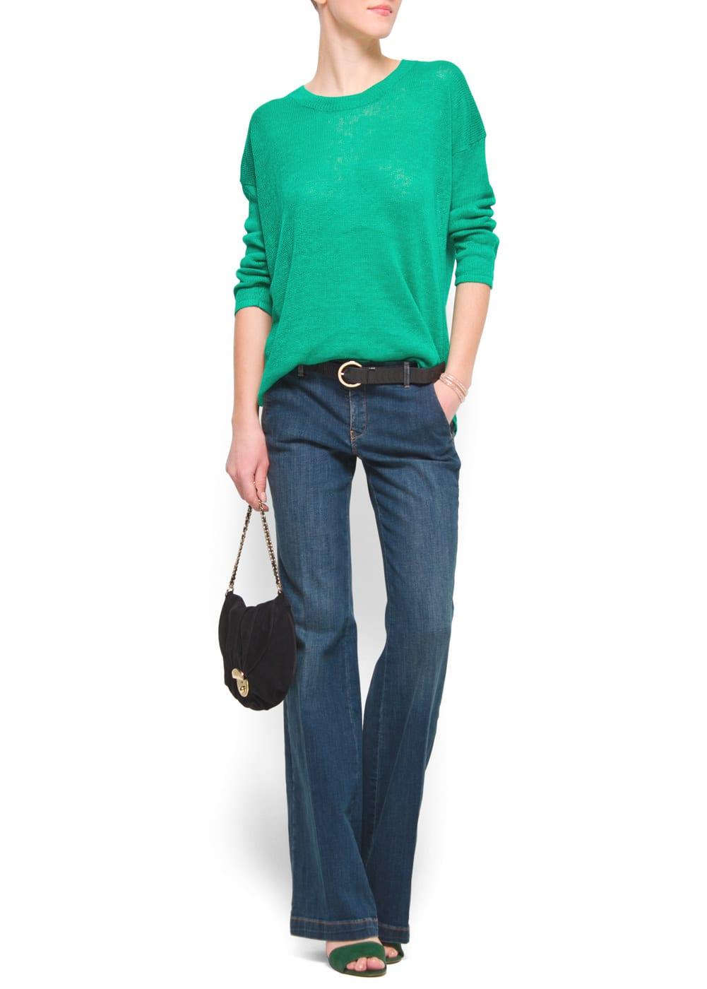 Relaxed-fit linen jumper | MANGO