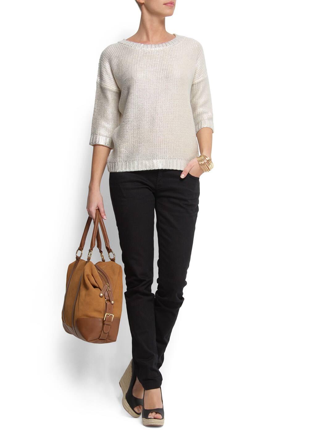 Leather bowling handbag | MANGO