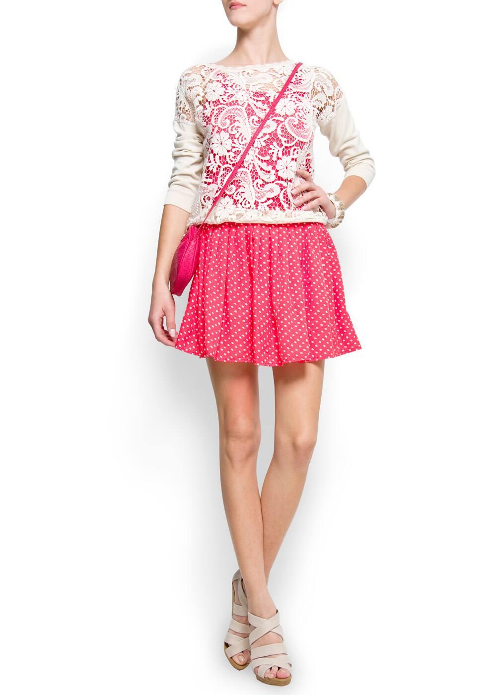 Lace jumper | MANGO