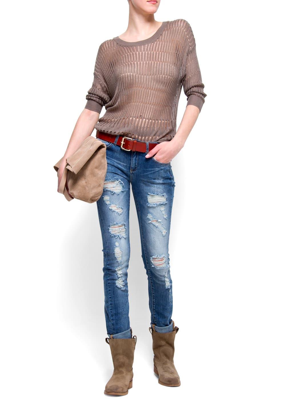 Distressed super slim jeans | MANGO