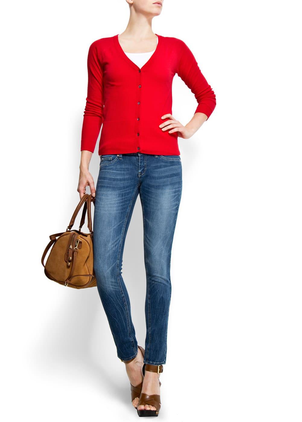 Slim-leg low-waist jeans | MANGO