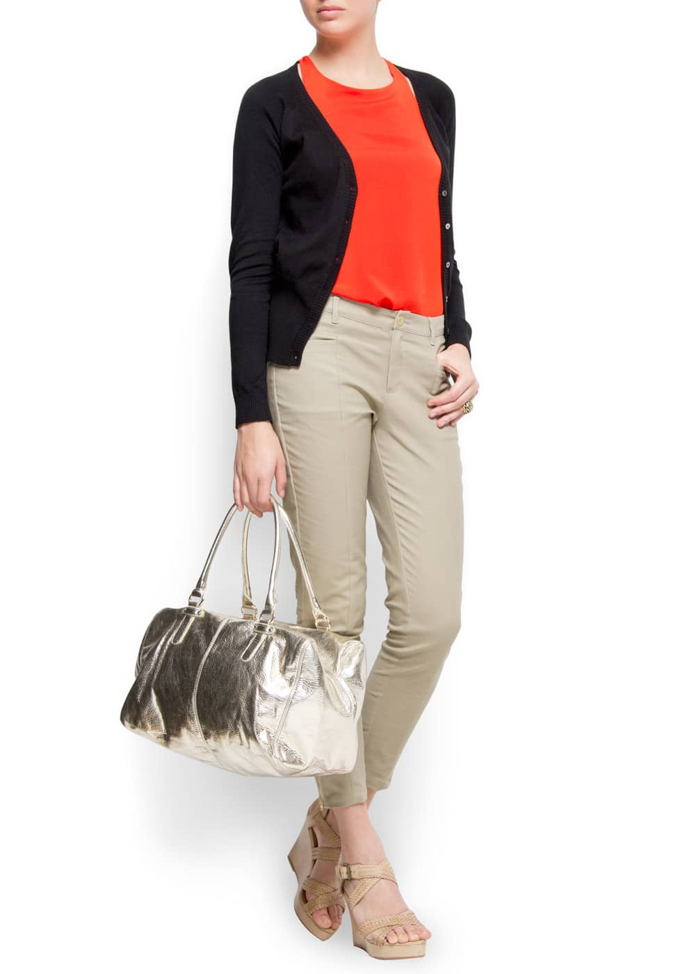 Loose-fit sleeveless top | MANGO