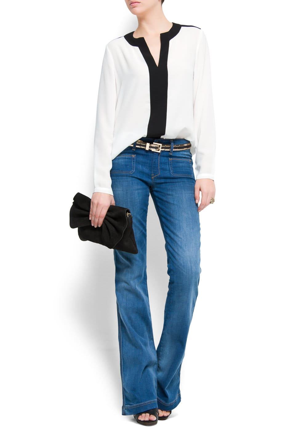 Jeans bolsillo plastrón | MNG