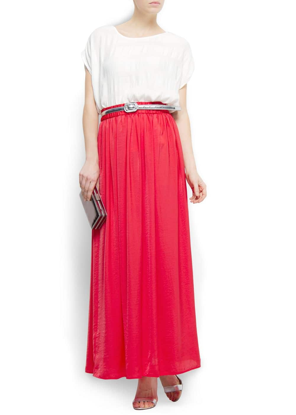 Pleated maxi-skirt | MANGO