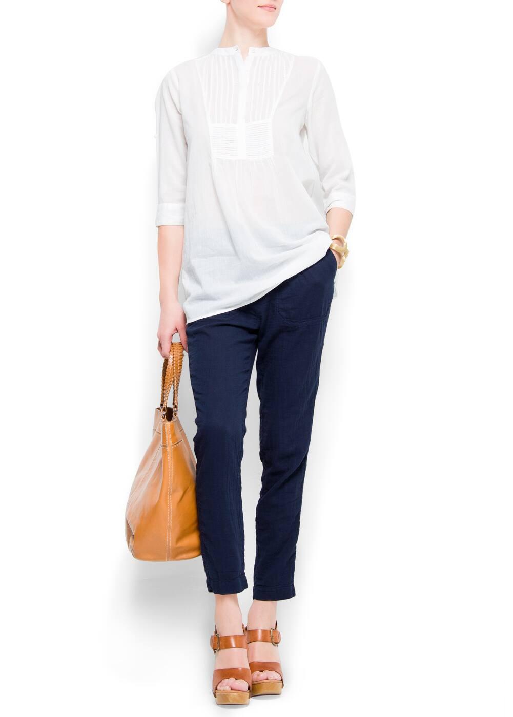Cotton pocket trousers | MANGO