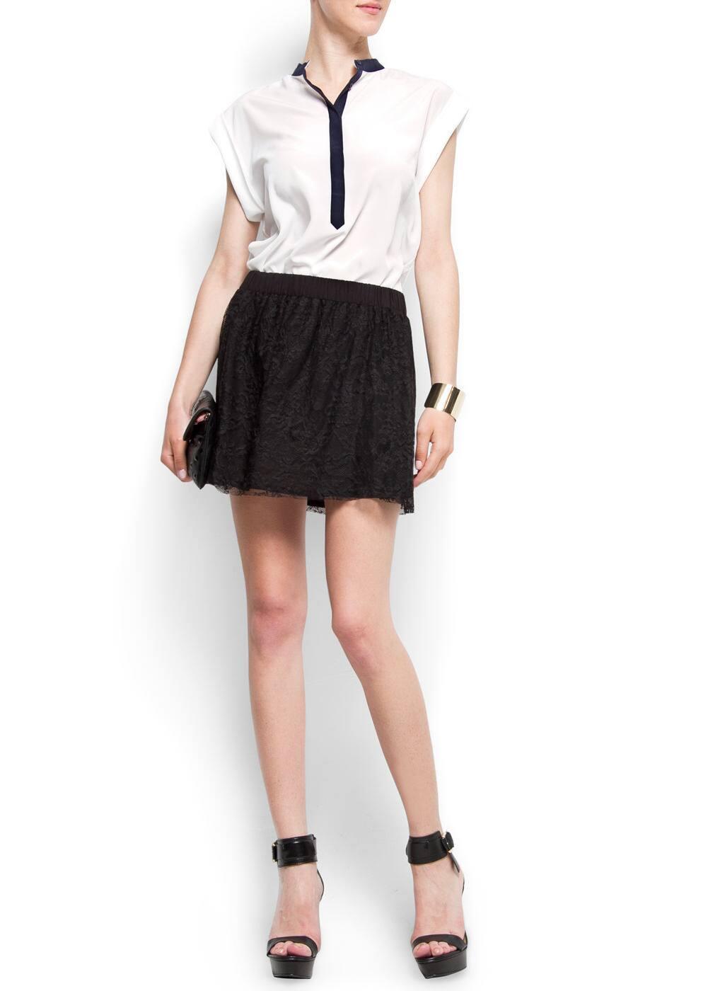 Full lace skirt   MANGO