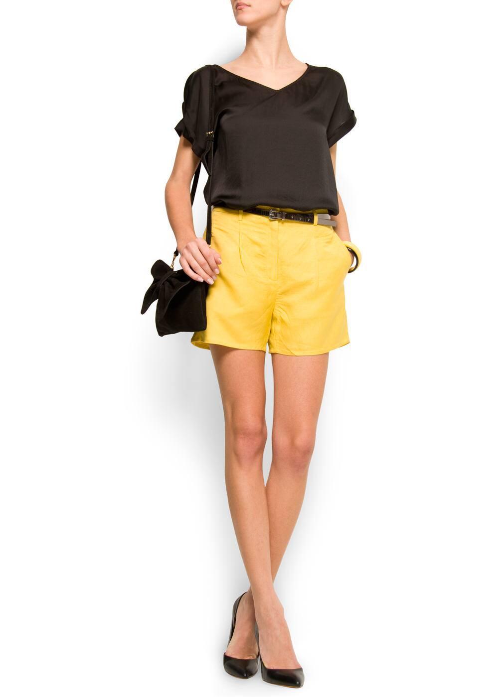 Linen bermuda shorts | MANGO