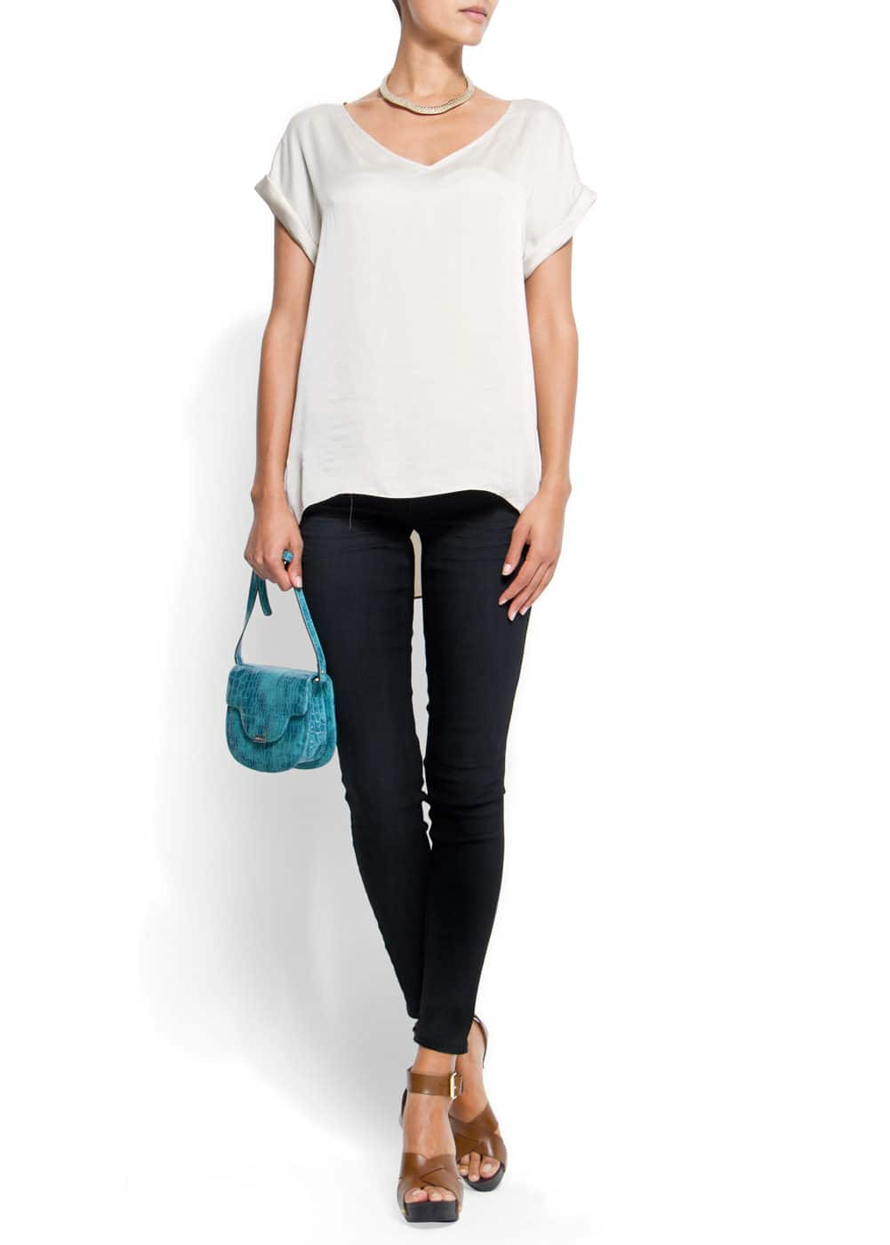 Relaxed-fit v-neckline blouse | MANGO