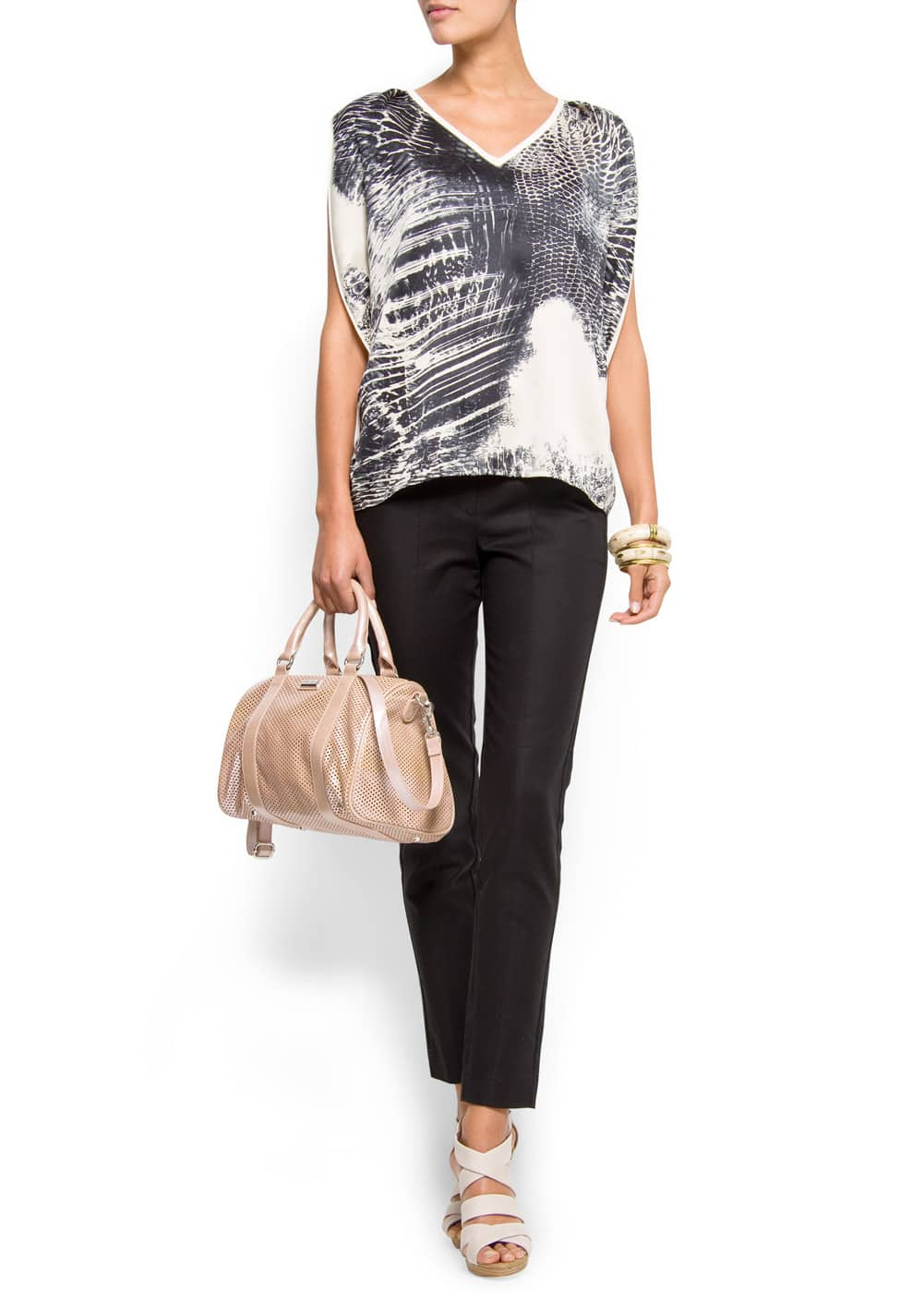 Relaxed-fit printed blouson | MANGO