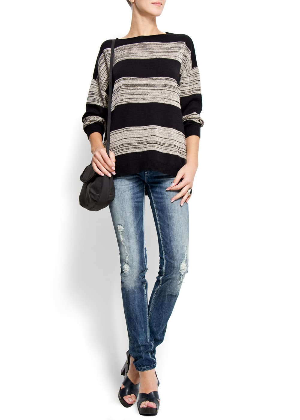 Relaxed-fit stripes jumper | MANGO