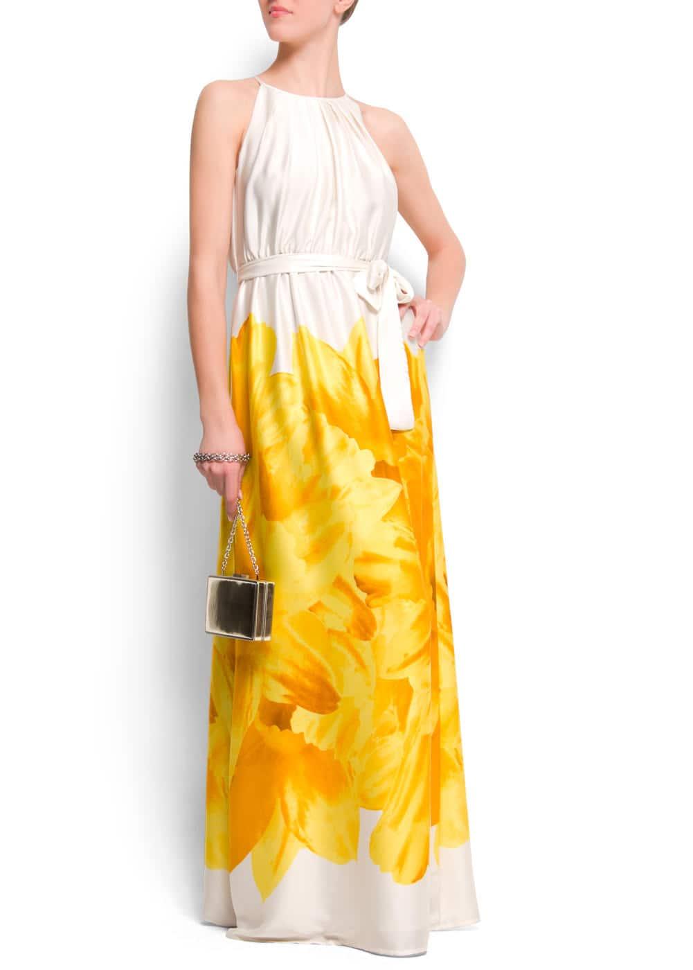 Flower halter dress | MANGO