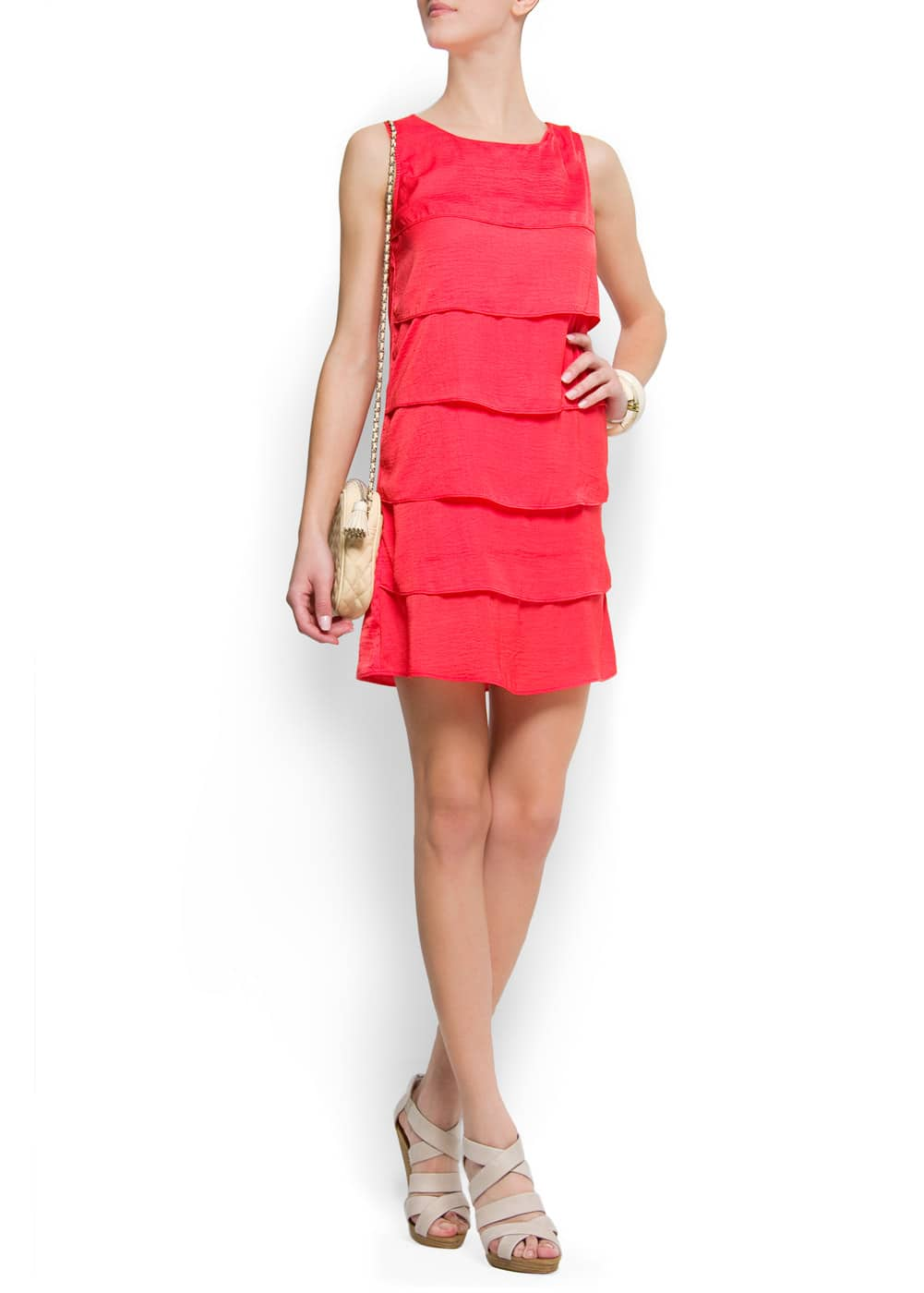 Relaxed-fit ruffle dress | MANGO