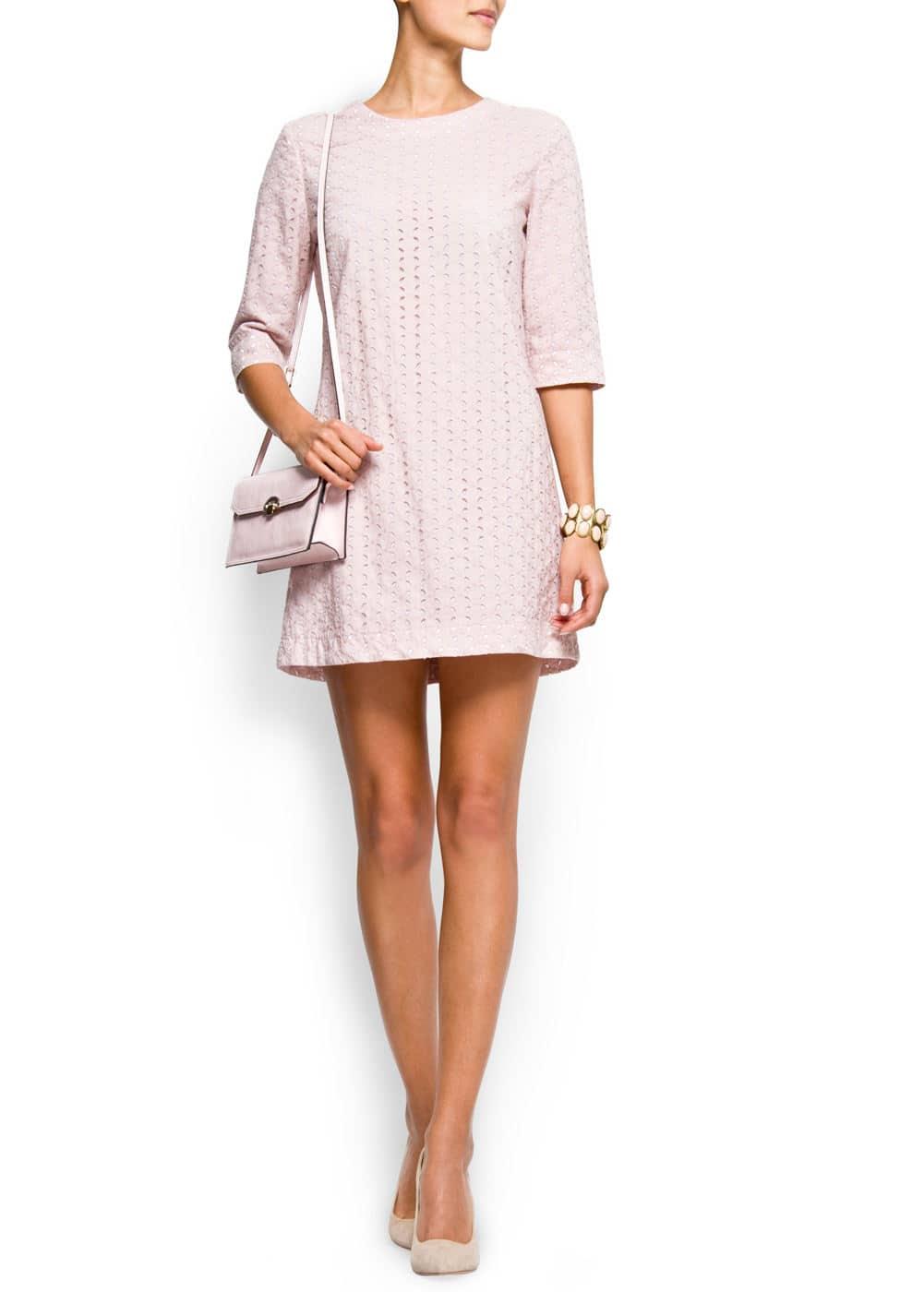 Swiss embroidery dress | MANGO