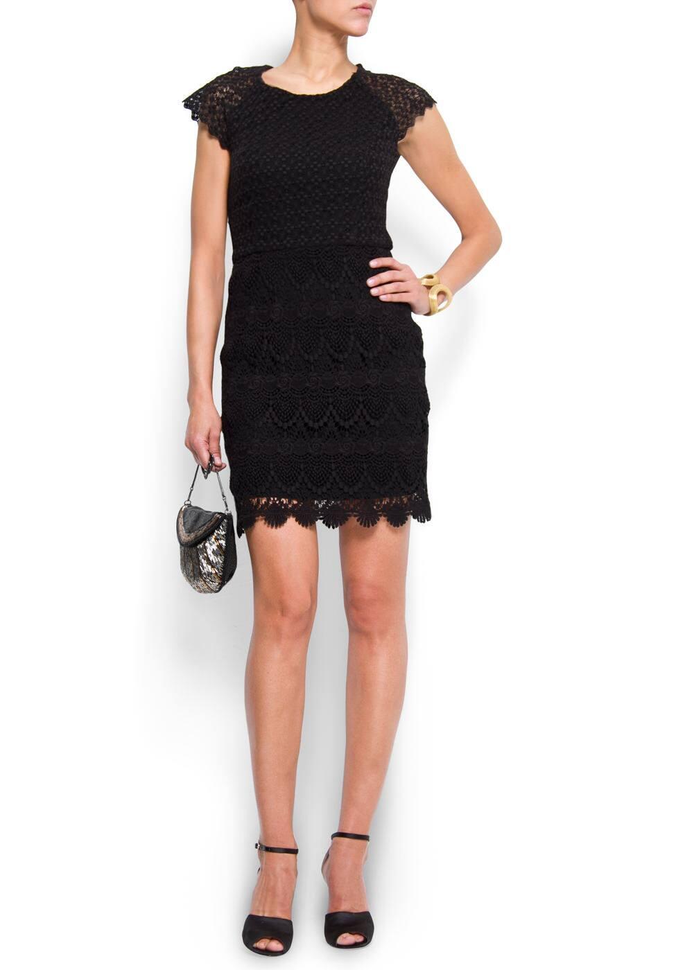 Lace edge dress   MANGO