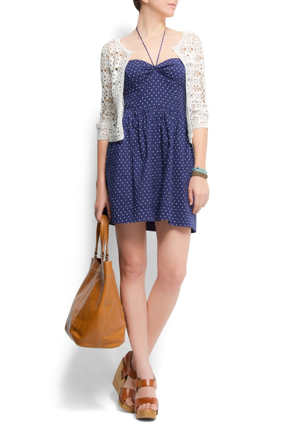 Polka-dots bustier dress | MANGO