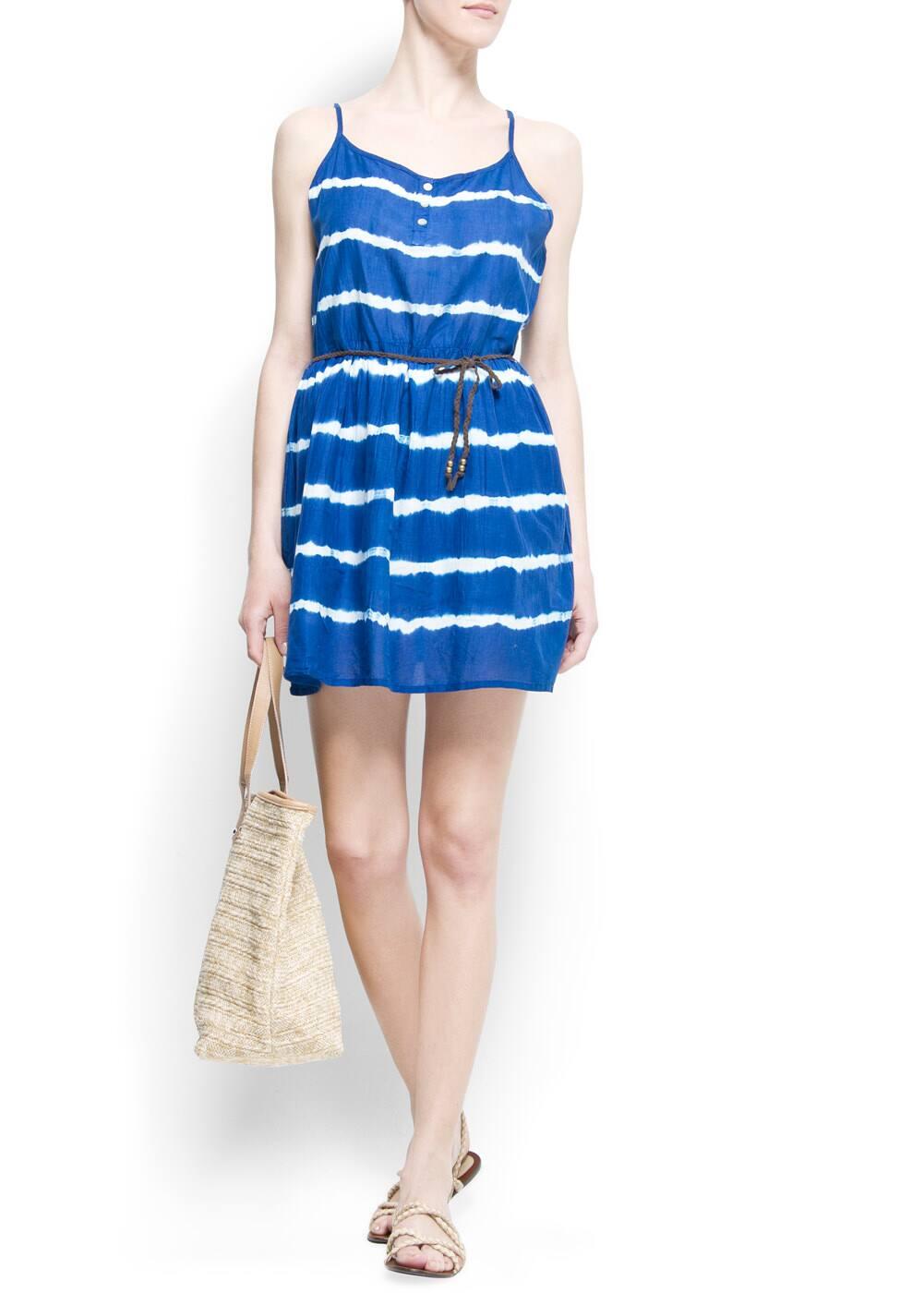Tie-dye striped dress | MANGO
