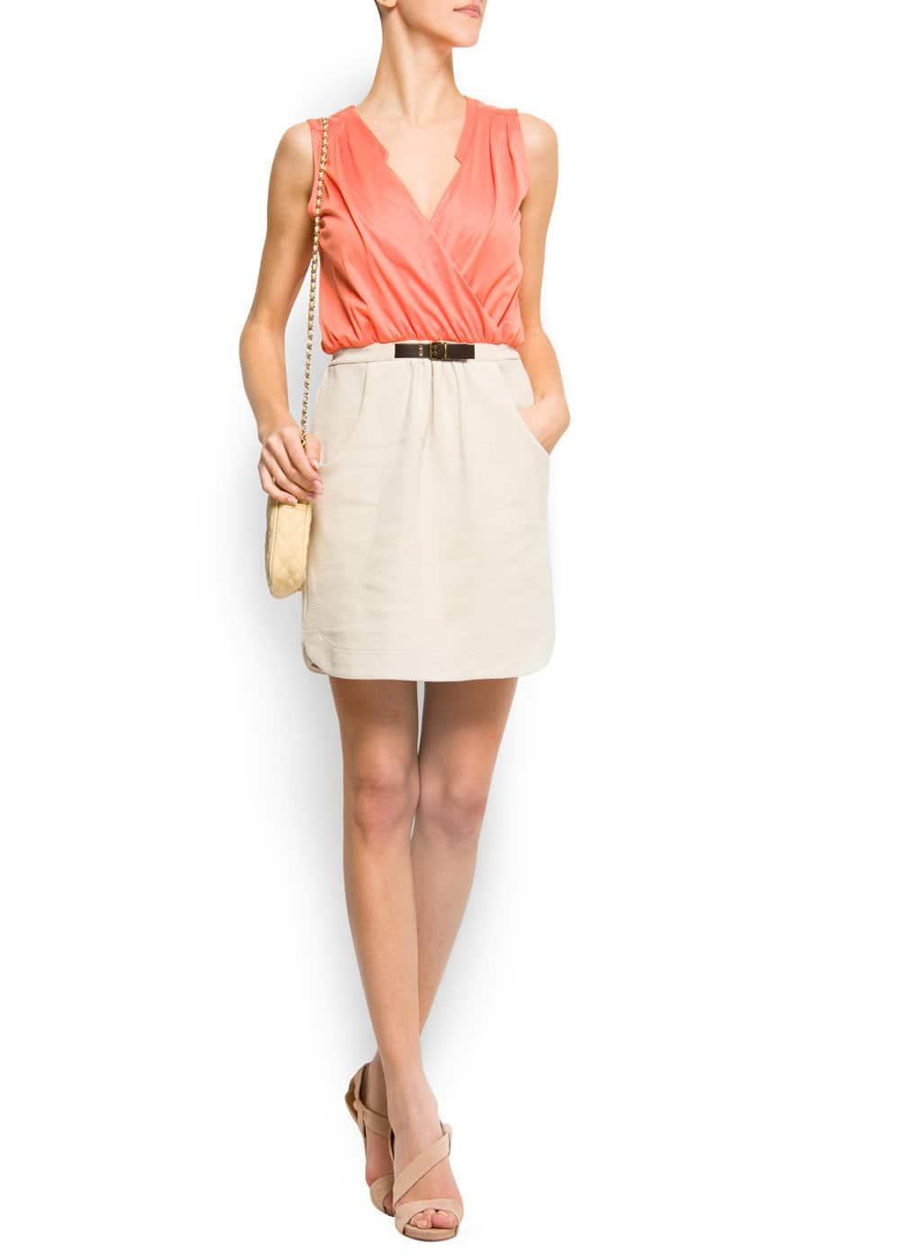 Combi cotton dress   MANGO