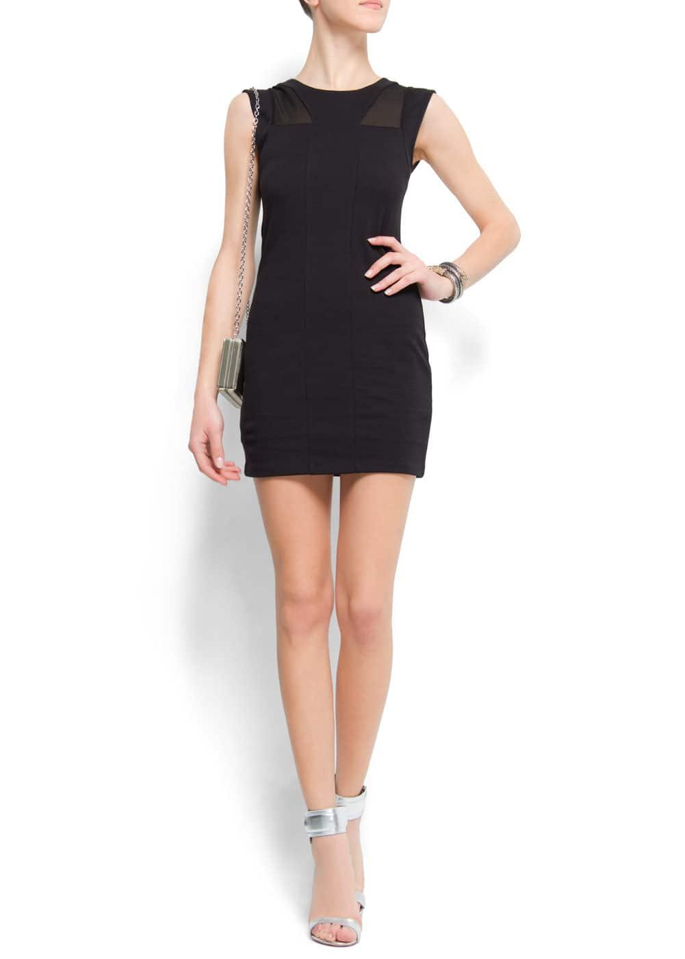 Slim-fit cocktail dress   MANGO